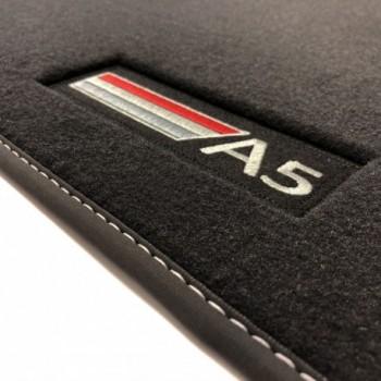 Tappetini Audi A5 F53 Coupé (2016 - adesso) velluto logo