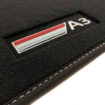 Tappetini Audi S3 8V (2013 - adesso) velluto logo