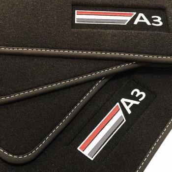 Tappetini Audi A3 8VA Sportback (2013 - adesso) velluto logo