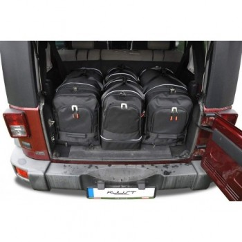 Kit valigie su misura per Jeep Wrangler 5 porte (2007 - 2017)