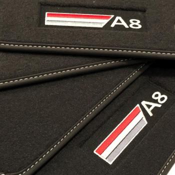 Tappetini Audi A8 D5 (2017-adesso) velluto logo