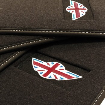 Tappetini Mini Countryman F60 (2017 - adesso) velluto logo Mini